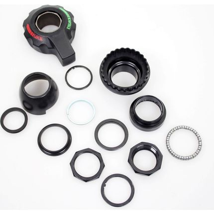 Cortina balhoofd set CH2900BW +lockset nosecap black