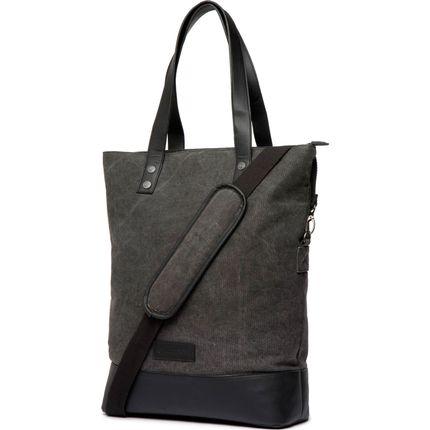 Cortina Oslo Shopper Bag canv/leather Antra/Black