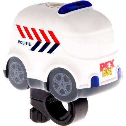 """Fietsbel met sirene en zwaailichten """"politieauto"""