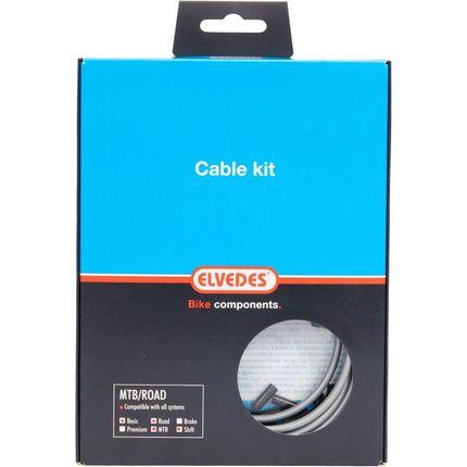 Elvedes versn kabel kit ATB/RACE zilver
