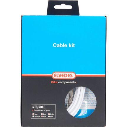 Elvedes atb / race kabelset rem basic �5,0mm wit