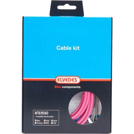 Elvedes remkabel kit  ATB/RACE roze