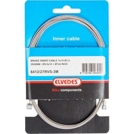 Elvedes rem binnenkabel rvs 3m 2 nippels ton 7x6 peer 5.5x10