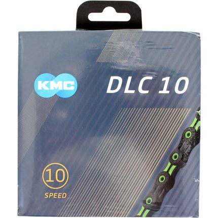 Kmc ketting 10-speed dlc 10 116 links zwart/groen
