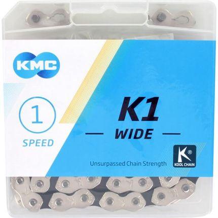 Kmc ketting singlespeed k1 100l 1/2x1/8 wide zilve