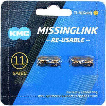 Kmc kettingschakel missinglink 11r ti-n goud (2)