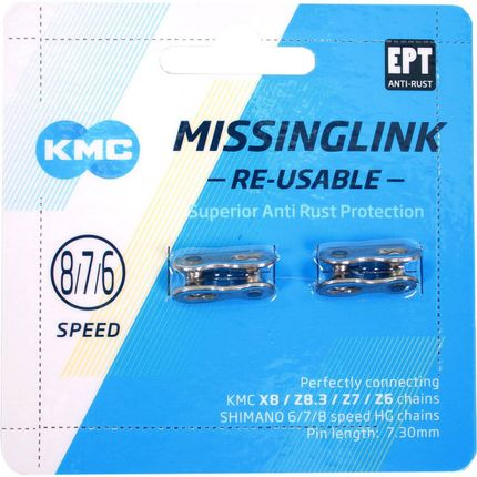KMC missingLink 7/8R EPT silver 7,3mm krt (2)