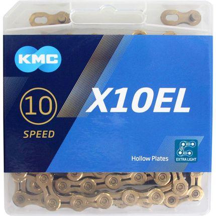 Kmc ketting 10-speed x10el 114 links ti-n goud