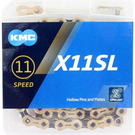 KMC achterwielX11SL gold/black