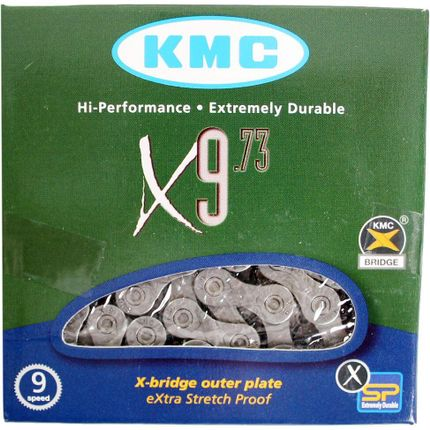 Ketting KMC X9 - 9 speed - 114 schakels - grijs