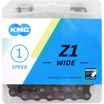 Kmc ketting singlespeed z1 112l 1/2x1/8 wide bruin