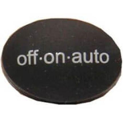 Spann knopje Radius off/on/aut