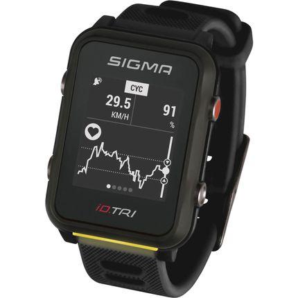 Sigma sporthorloge id.tri black met sensorset