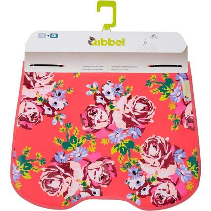 Qibbel windschermflap Roses rood