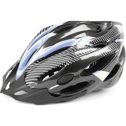 Mirage helm Allround 53-58 zw/zilver