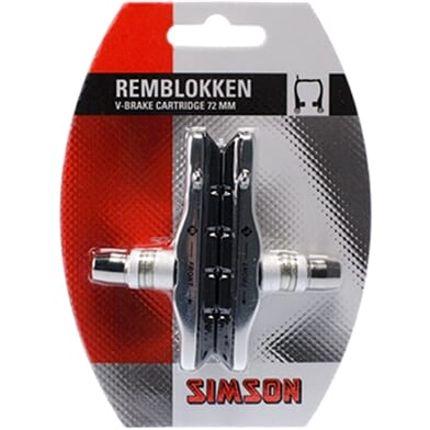 Simson remblok v-bruin 70mm (2)