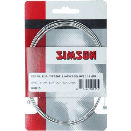 Simson Versnellingbinnenkabel Derailleur - RVS