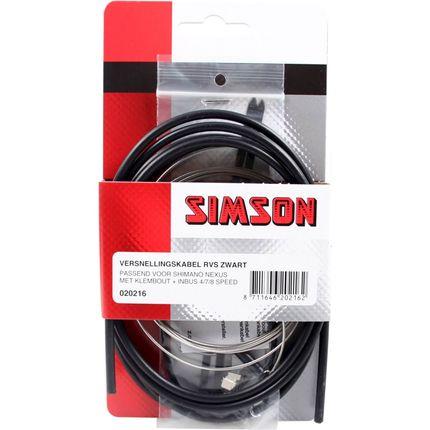 Simson versn kabel Nexus RVS zwart