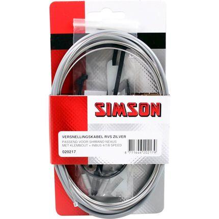 Simson versn kabel Nexus RVS zilver