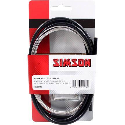 Simson Remkabelset Shimano Nexus Rollerbrake zwart