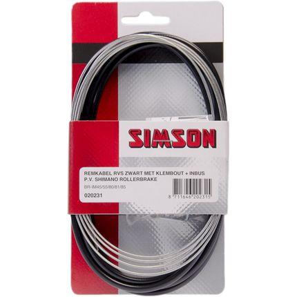 Simson Remkabelset RVS Shimano Rollerbrake zwart