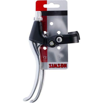 Simson remgreepset universeel aluminium zwart/zilv