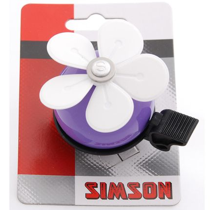 Simson bel Bloem lila/wit