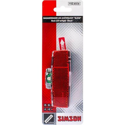Batterij Bagagedrager achterlicht ''Block'' 1 LED