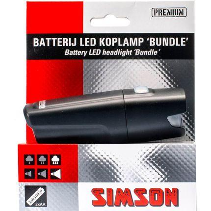 Simson koplamp voor bundle led batterij stuur 25 l