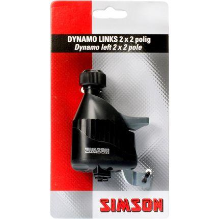 Simson dynamo links rubber loopwiel 2x2 polig zwar