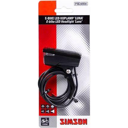 Simson E-bike voorvork koplamp ''Luna'' 6-60 Volt