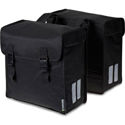 Basil dubbele tas Mara 3XL zwart