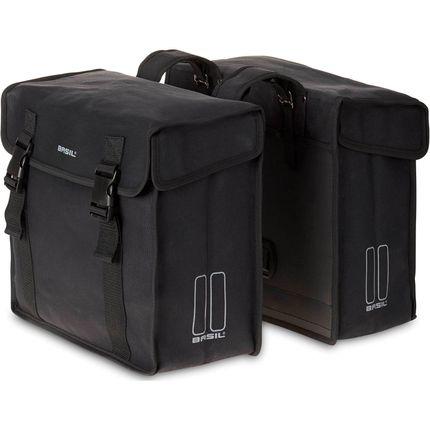 Basil dubbele tas Kavan zwart