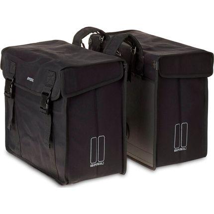 Basil dubbele tas Kavan XL zwart