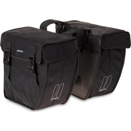 Basil dubbele tas Kavan schuin XL zwart