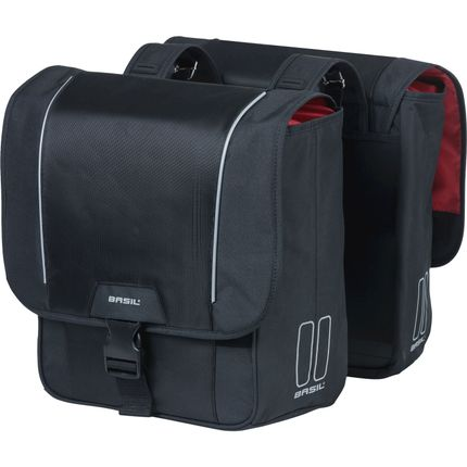 Basil dubbele tas Sport Design zwart