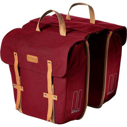 Basil dubbele tas Portland donker rood
