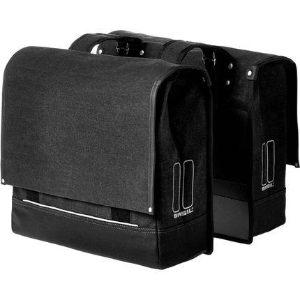 Basil dubbele tas Urban Fold zwart
