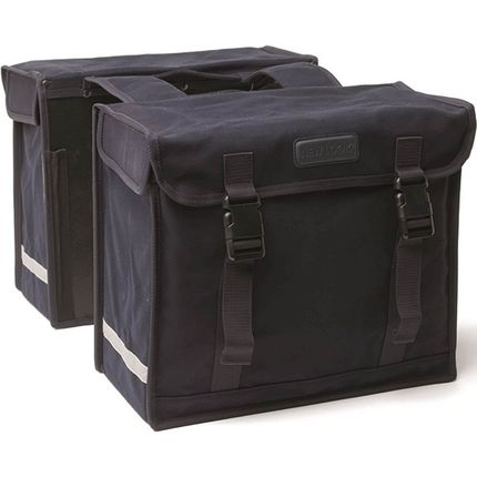 NL dubbele tas Canvas Deluxe zwart