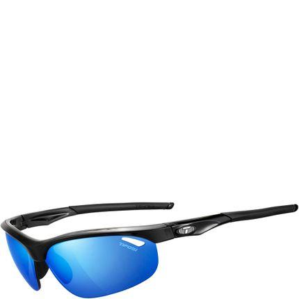 Tifosi bril Veloce gloss zwart clarion blauw