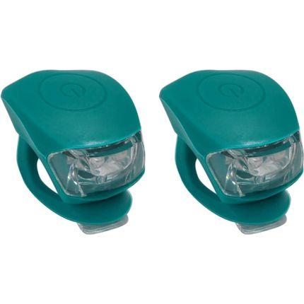 UP Siliconen LED Fietslampjes set Petrol