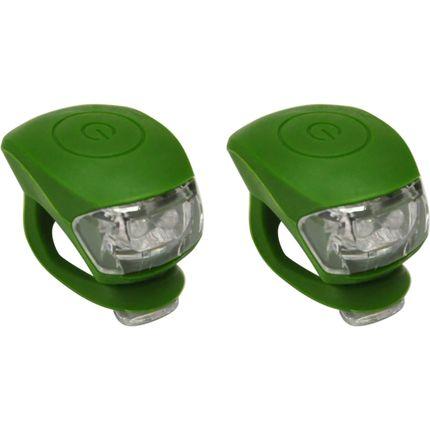 UP Siliconen LED Fietslampjes set Legergroen