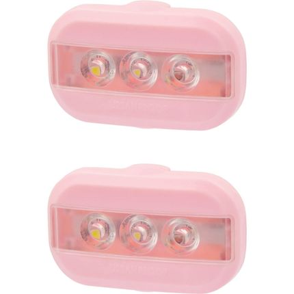 UP Clip Fietslampjes set Pastel roze