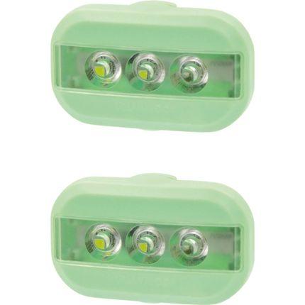 UP Clip Fietslampjes set Pastel groen