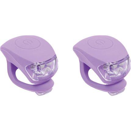 UP Siliconen Fietslampjes set Pastel violet