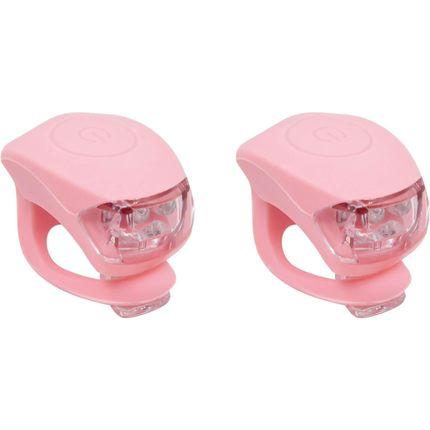 UP Siliconen Fietslampjes set Pastel roze