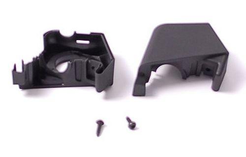 Kit accuhouder. zwart. incl. houderschaal en 2 x