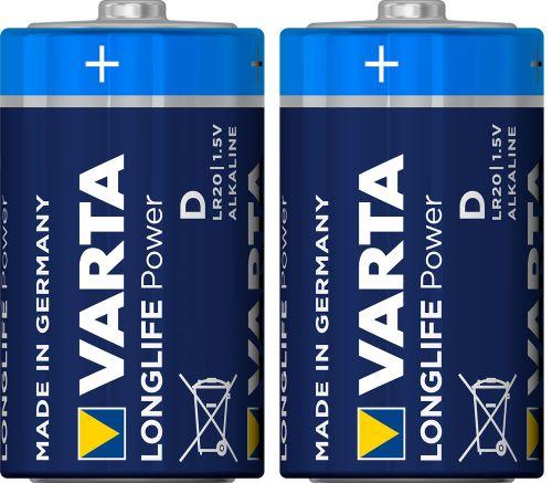 Batterij VARTA Longlife Alkaline LR20  (2x)