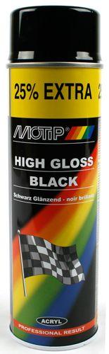 Spuitbus Motip 500ml Zwart Glans