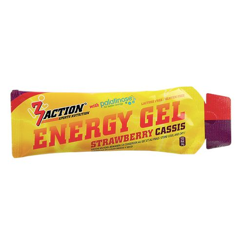 3 ACTION ENERGY GEL STRAWBERRY CASSIS